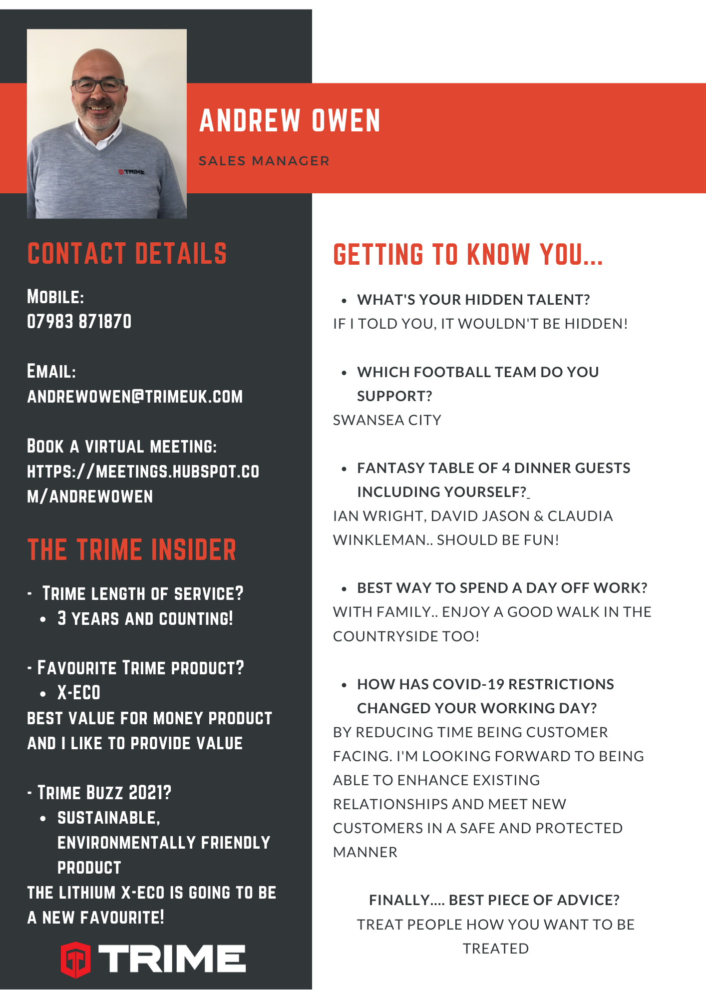 Trime UK launch the new series of getting to know you..