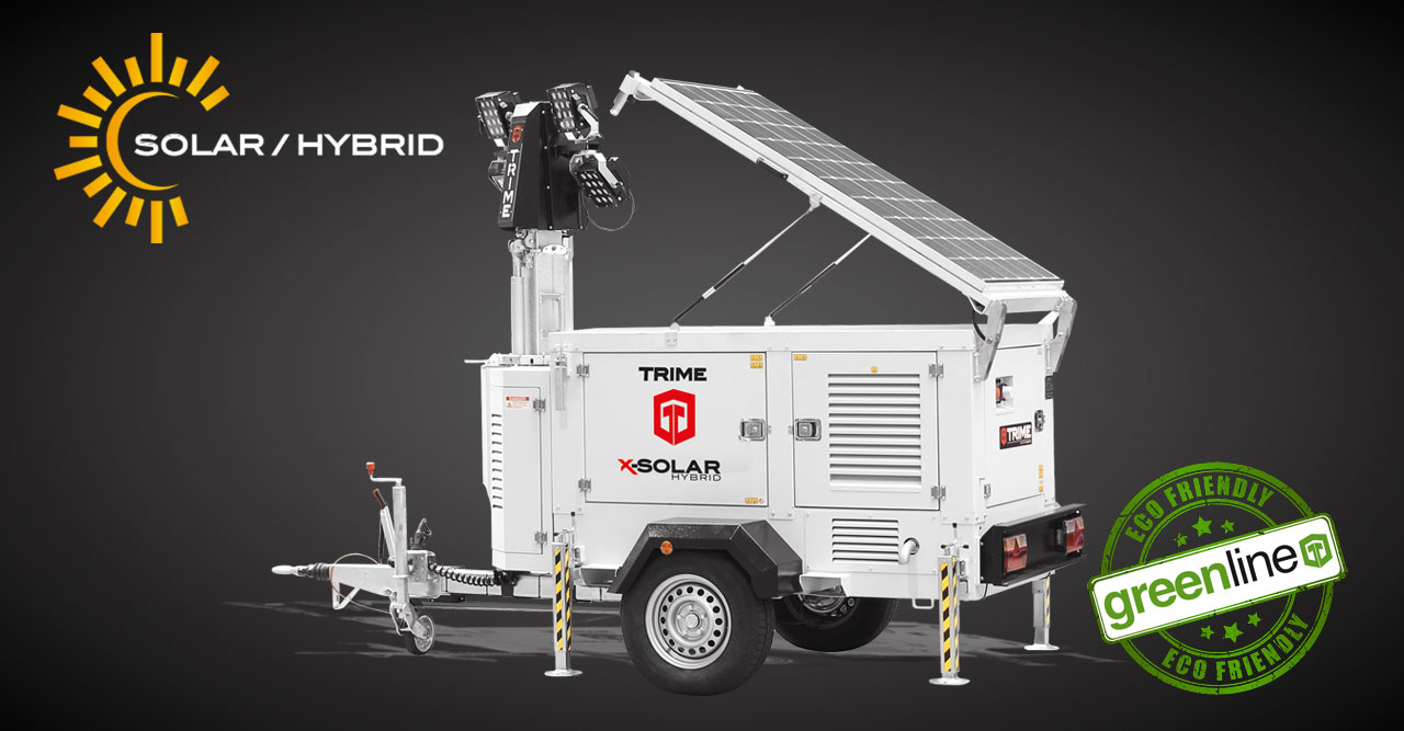 Introducing the Trime X-Solar Hybrid Lighting Tower